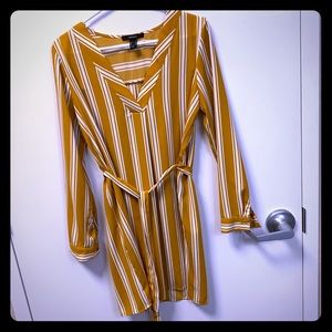Pretty, striped yellow sun dress